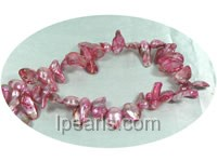 peachblow color 10*15mm blister pearl strands