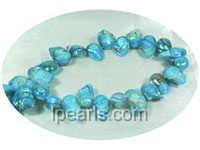 blue color 11*16mm blister freshwater pearl strands