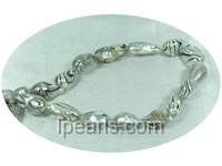 9*16mm long-drilled blister freshwater pearl strands
