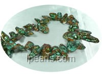 mix color 15*25mm blister freshwater pearl strands