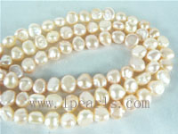 6-7mm smooth on both sides pearl strands from China