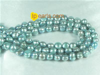 6-7mm smooth on both sides freshwater pearl strand