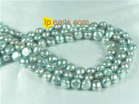 wholesale 6-7mm smooth on both sides freshwater pearl strand