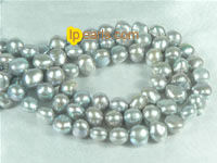 grey 6-7mm smooth on both sides freshwater pearl strand