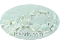 extraordinary 25*30mm white freshwater keishi  pearl strands
