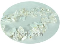 beautiful 20*25mm white thin petal shape freshwater keishi  pear