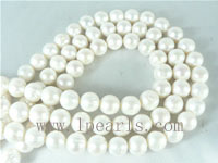 12-13mm natural white freshwater potato pearl strands