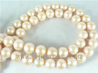 12mm natural pink freshwater potato pearl strands on wholesale