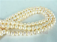 4-5mm natural pink freshwater potato pearl strands