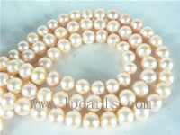 7-8mm natural pink freshwater potato pearl strand from China