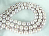 7-8mm natural purple freshwater potato pearl strand from China