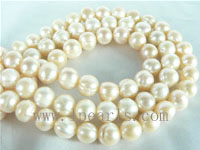 8-9mm natural pink freshwater potato pearl strand from China