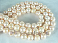 8-9mm natural pink freshwater potato pearl strands