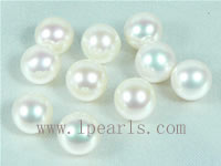 50pcs 7-7.5mm natural white freshwater round loose pearl beads