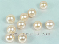 50pcs 7-7.5mm natural pink freshwater round loose pearl beads