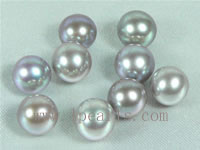50pcs 7-7.5mm natural purple freshwater round loose pearl beads