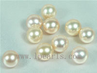 50pcs 7.5-8mm natural pink freshwater round loose pearl beads