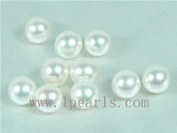 50pcs 7.5-8mm natural white freshwater round loose pearl beads