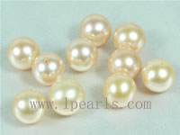 20pcs 9-9.5mm natural pink freshwater round loose pearl beads