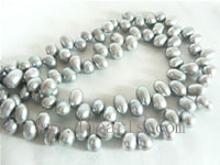 5-6mm grey color top drilled freshwater pearl strands