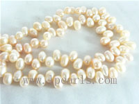 5-6mm pink color top drilled freshwater pearl strands