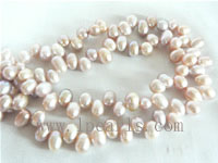 5-6mm purple color top drilled freshwater pearl strands
