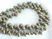 5-6mm coffee color top drilled freshwater pearl strands
