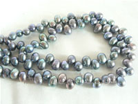 5-6mm peacock blue color top drilled freshwater pearl strands