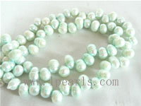 7-8mm cerulean color top drilled freshwater pearl strands