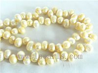 7-8mm ecru color top drilled freshwater pearl strands