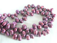 7-8mm wine red color top drilled freshwater pearl strands
