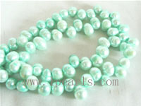 7-8mm blue color top drilled freshwater pearl strands