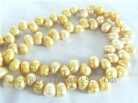 7-8mm yellow color top drilled freshwater pearl strands