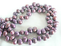 7-8mm deep purple color top drilled freshwater pearl strands