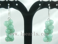 cute grape shape sterling silver dangling earrings on wholesale