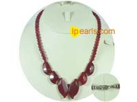 Red jasper beads necklace jewelry  wholesale