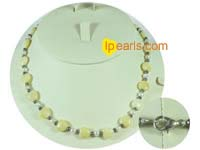 wholesale charming heart shaped jade necklace with pearl beads