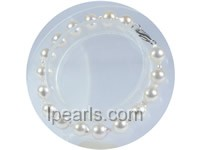 wholesale 7.5-8mm white baroque akoya pearl bracelet