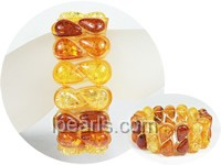 9x18mm multicolor vase shape stretchy amber bracelet