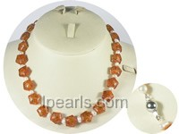 wholesale star amber beads and 5-6mm potato pearl necklace