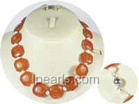 wholesale amber beads and 5-6mm potato pearl necklace