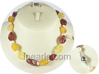wholesale 5-6mm potato pearl necklace and amber beads