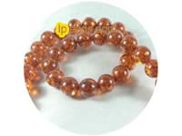 14mm cognac  color round amber strand on wholesale