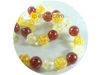 14mm multicolor round amber strand on wholesale