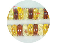 wholesale 5x12mm multicolor superposition amber strand