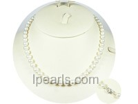 "16.5"" 6.5-7mm sterling silver akoya pearl necklace"
