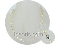 wholesale 8.5-9mm white baroque akoya pearl necklace