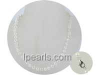 wholesale 6.5-7mm white round akoya pearl necklace
