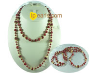 elegant two rows coral necklace on wholesale