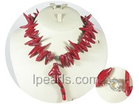 red branch shape coral necklace wholesale